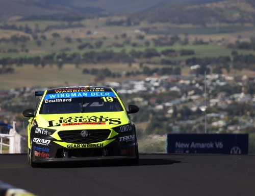 Craig Lowndes Drives the Wingman Beer Commodore